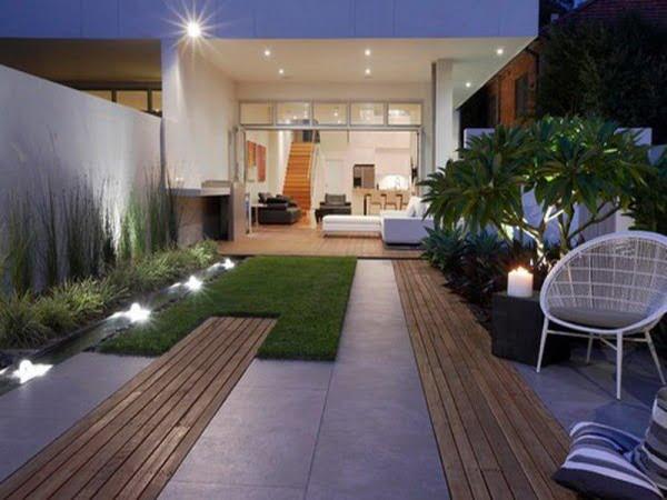 Svarbu forma, o ne žiedai. Terasa - modernus minimalistinius stilius. Nuotrauka iš betterlivingpatios.com