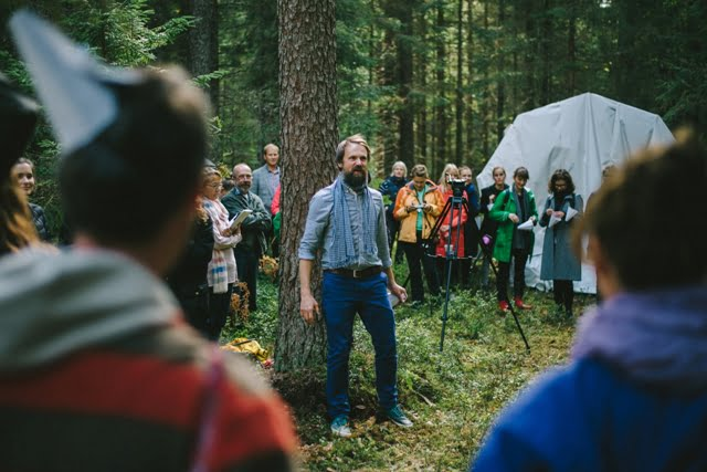 Hannes Praks pristato savo studentų projektą. Nuotr.aut. Henno Luts