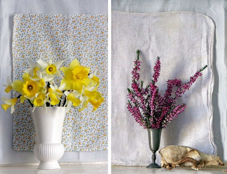 Įkvėpimo menininkas semiasi ir iš sezoninių gėlių grožio.