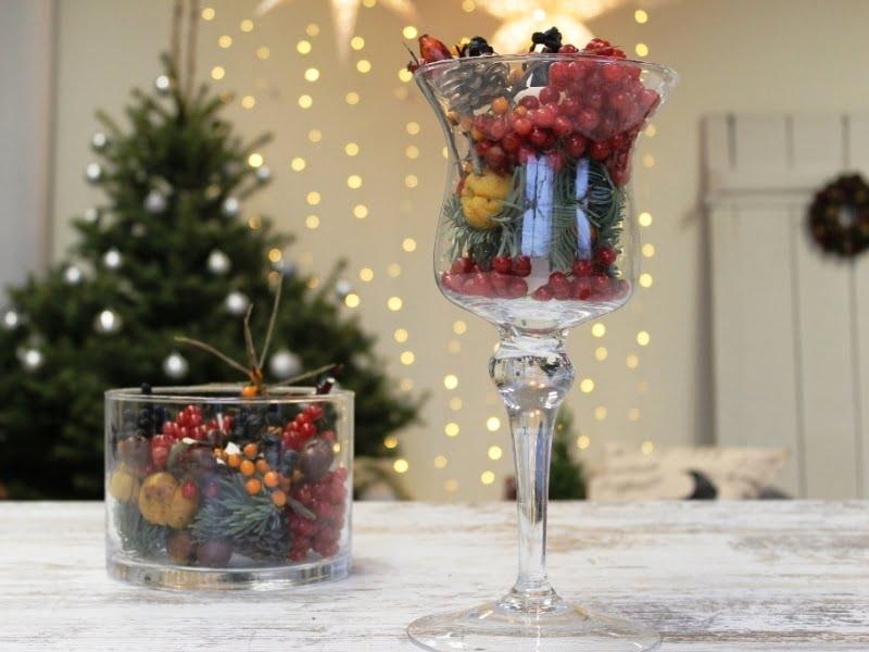 Kalėdinė dekoracija iš grožybių, ką radome kieme ir virtuvėje. Nuotr. L.Liubertaitė