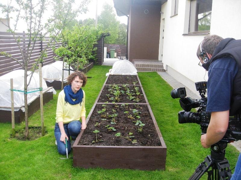 Pas Viktoriją filmavome reportažą apie pakeltas lysves. Gražu ir tvarkinga!
