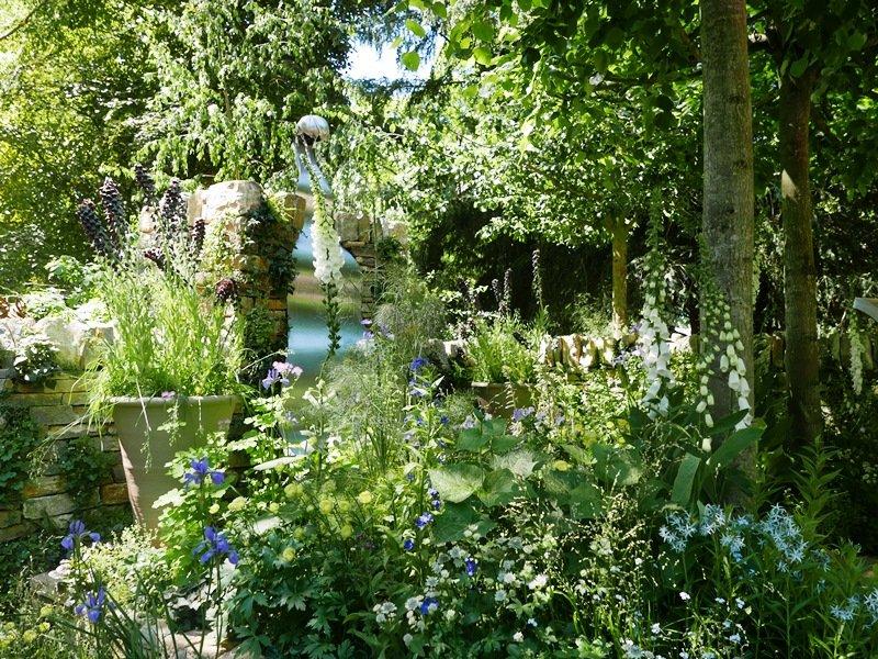 "Poetry Lover's Garden (kasmetinė gėlių paroda Londone ""Chelsea Flower Show 2017"")"