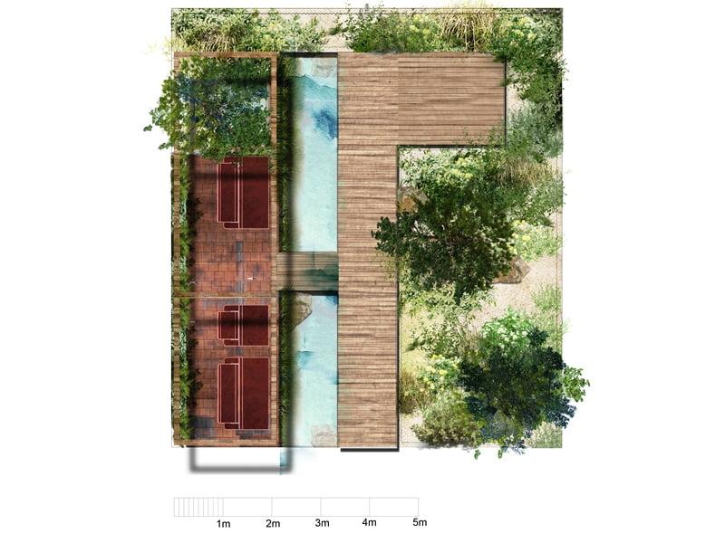 Ulos Marijos kuriamo projekto vizualizacija. Jos sodo biuras – tai Baltijos pajūrio įkvėpta idėja.