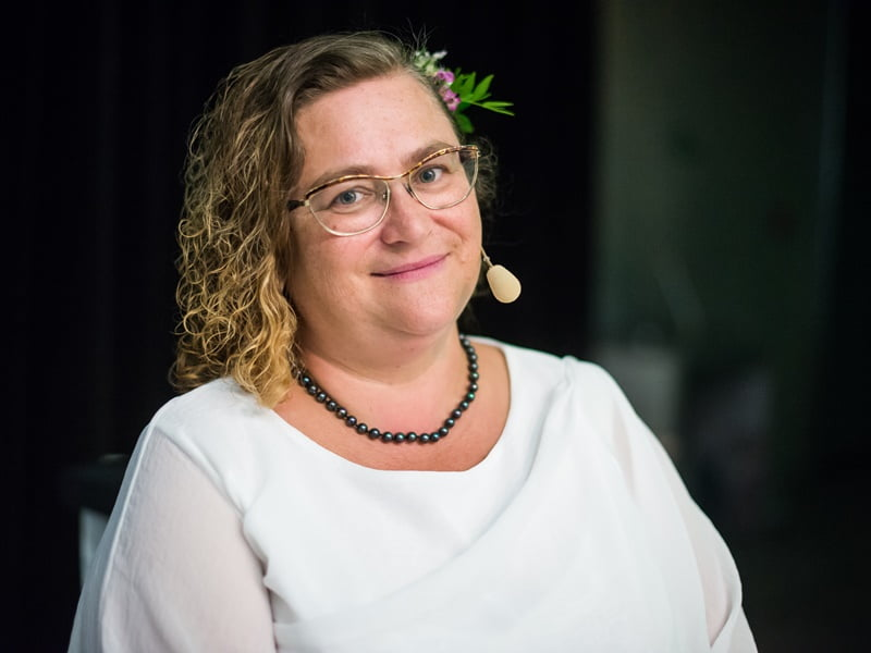 Ingė Auželienė konferencijoje papasakojo apie sklypą prie miško.