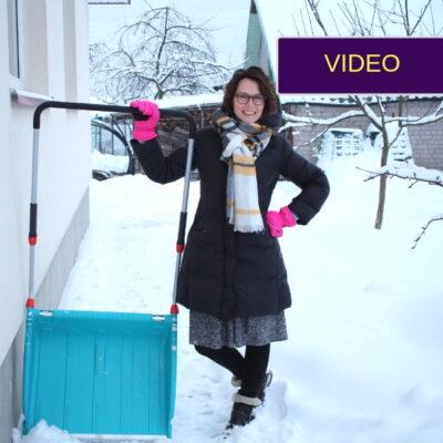 Sniego valymas be nugaros skausmo: mano atradimas