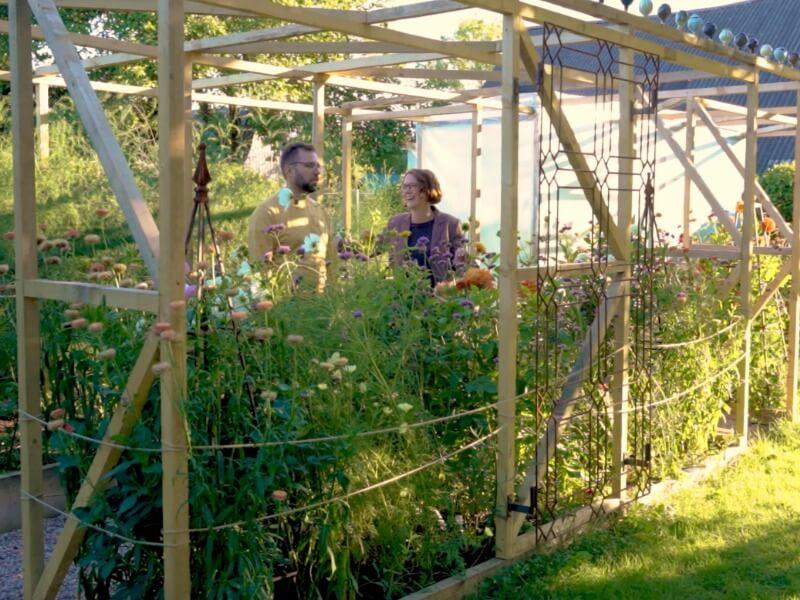 Vertikali konstrukcija darže ne tik prilaiko augalus, bet ir atrodo dekoratyviai. Nuotr. Lina Liubertaitė